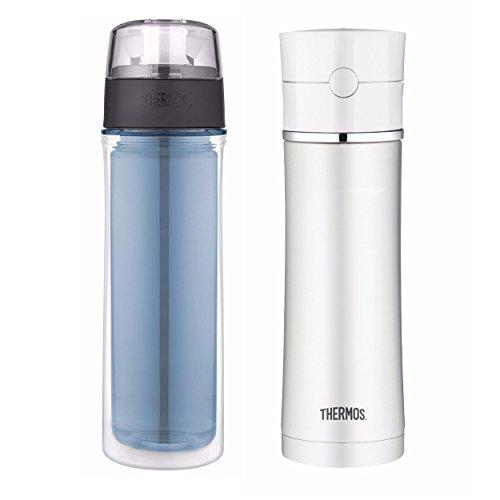 Bouteille d'hydratation en acier inoxydable 18oz et 18oz DBL Tritan - Bleu