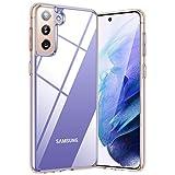 TORRAS für Samsung Galaxy S21 Hülle Transparent (Vergilbungsfrei) Dünn Dauerhaft Durchsichtig Samsung S21 Hülle Starke Stoßfestigkeit Schutzhülle Handyhülle für Samsung Galaxy S21-Diamond Series