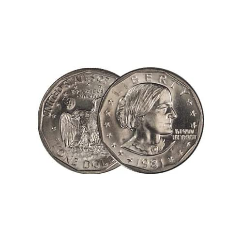 1981 P D /& S  Susan B Anthony Dollar  In Mint Cello