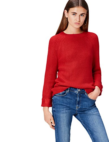 Marca Amazon - find. Funnel Neck Suéter para Mujer, Mangas 3/4