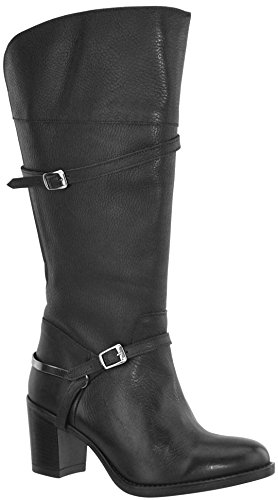 JJ Footwear Women's Bradshan XL 40.4 cm - 48.1 cm Schwarz Floater Leather Boot 37 F EU