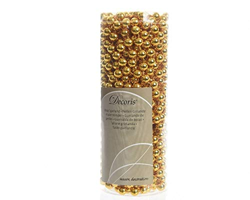 Decoris 566 Perlenkette gold, Kunststoff, 8mm x 10m