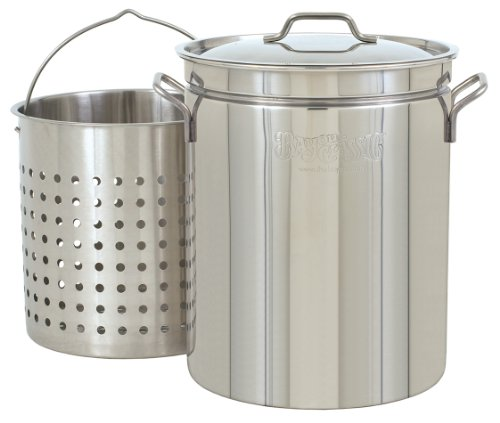 Bayou Classic 62-qt Stainless Stockpot with Basket