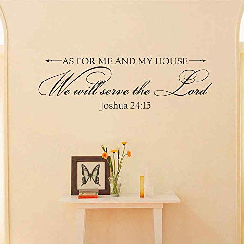 pegatinas de pared Per quanto riguarda me e la mia casa, servi il Signore Christian Joshua 24:15 Sticker Bibbia Scritture