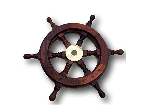 Vectis - Rueda de timón de madera, diámetro de 32 cm