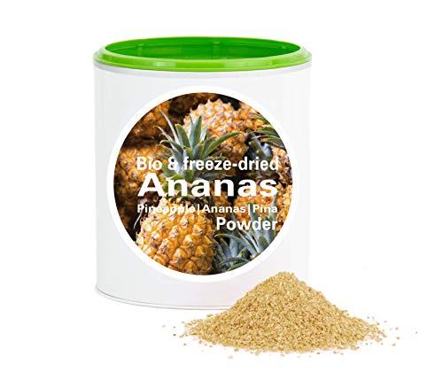 Ananaspulver – Bio Ananas gefriergetrocknet |bio organic| freeze-dried pineapple| good-superfruit von good-smoothie| 100% frucht |ohne zusatzstoffe + viele Inhaltsstoffe| 120g