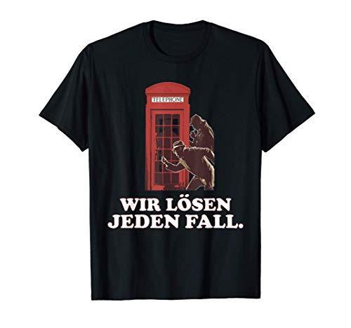 Detektiv London Ermittler Geschenkidee Agent Lupe Spion T-Shirt