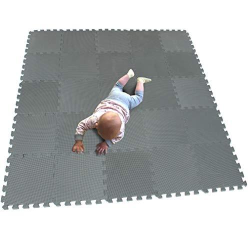 MQIAOHAM babymatten bodenmatte Kinder Matte Play puzzelmatten puzzlematten schadstofffrei spielmatte Teppich Grau CDW112G301025