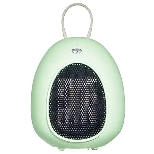 WZCXYX Calentador Eléctrico Mini Calentador Portátil para Calefacción Interior Termostato Ajustable para Campamento De Oficina En Casa Ventilador Calentador De Invierno Rápido(Color:Verde)