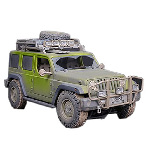 HXGL-Drum Compatible con Hummer H2 Off-Road y Compatible con Jeep Wrangler Alloy Car Real Car Modelo 1: 18/1: 24
