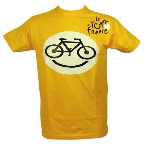 T-Shirt Tour de France 'Smiley' Officiel - Jaune (L)