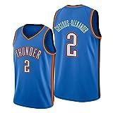 Rencai Shai Gilgeous-Alexander # Camiseta de Baloncesto de Calidad Multi-Estilo Nueva Tela Gran 2 Oklahoma City Thunder (Color : 3, Size : XXL)