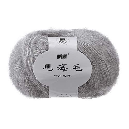 FeiliandaJJ Mohair 25g Wolle Zum Stricken & Häkeln Handstrickgarn Strickwolle,Weich Wollgarn Perfekt für Hüte Pullover Schal Decke Strickprojekt- 14 Farben (F)