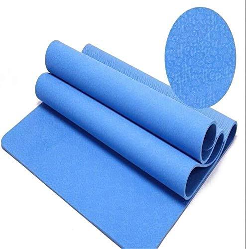 NDYD Mats de Yoga 183 * 61 * 0.8cm TPE TPE ecológico no tóxico Buena Elasticidad para Las Mujeres (Color: Sky) DSB