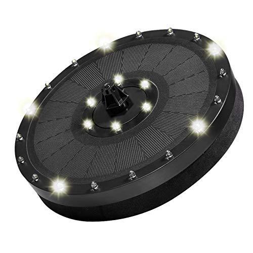 ARTOCT Solar Springbrunnen mit LED Licht,3.5W Solar Teichpumpe Eingebaute 2000mAh Batterie Wasserpumpe Solar Schwimmender Fontäne Pumpe mit 7 Fontänenstile für Garten Vogel-Bad Teich Fisch-Behälter