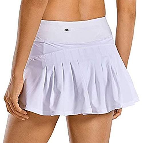 GYUANLAI Faldas Plisadas Atléticas para Mujer Faldas Cortas Deportivas de Tenis y Golf para Mujer con...