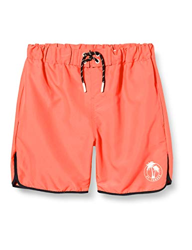 NAME IT Jungen NKMZAIMS Shorts Badehose, Neon Coral, 140