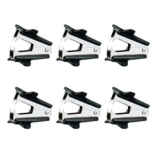 STOBOK 6 Stück Mini Hochwertige Klammerentferner Universal Handnagelzieher mit Kunststoffkappe