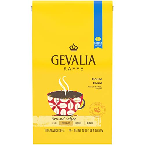 Gevalia House Blend Ground Coffee (20oz Bag)
