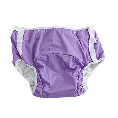 Zhouhuaw wasserdichte Windeln für Erwachsene, auslaufsicher, atmungsaktiv, waschbare Inkontinenzhosen, Pflegeprodukte L 1