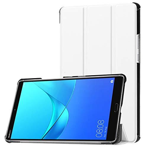 Hülle für Huawei MediaPad M5 8.4 Zoll Schutzhülle Tablet Smart Cover Hülle mit Auto Sleep/Wake, Standfunktion & Touchpen Weiß