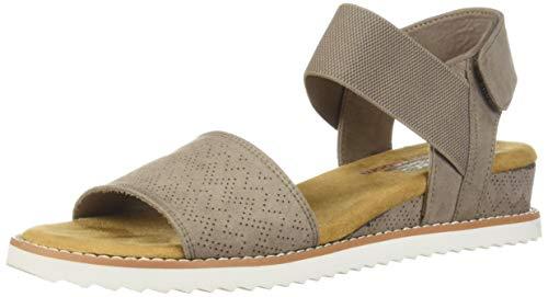Skechers BOBS Women's Desert Kiss-Stretch Quarter Strap Sandal Flat