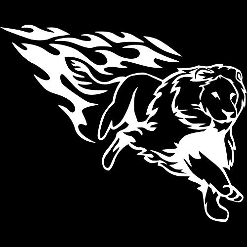 SZYND Running Lion Funny Vinyl Decals Motorcycle Car Sticker Car-Styling 15.5X12.5Cm