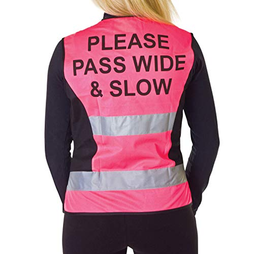 hyviz Kinder verstellbar Netz Weste mit Handy Tasche (Pink / schwarz,Regular)