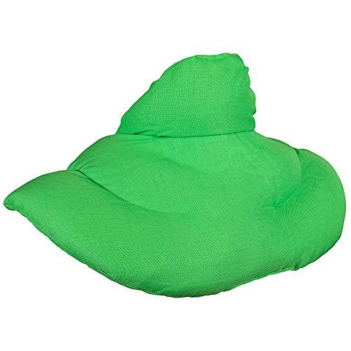 Cojín cervical térmico cuello. Verde claro. Saco