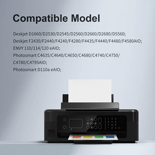 KNOWINK 300XL Cartucho de Tinta Compatible para HP 300XL HP 300 XL para HP Deskjet F4280 F4580 D1660 D2560 D2660 D5560 F4240 Envy 114 120 110 Photosmart C4780 C4680 D110a (Negro/Color)