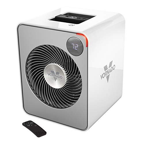 Vornado VMH500 Whole Room Metal Heater with Auto Climate, 2 Heat Settings, Adjustable Thermostat, 1-12 Hour Timer, and Remote, Ice White (Renewed)