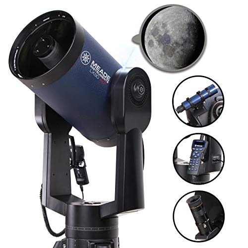 heavy duty Meade Instruments 1010-90-03 LX90-ACF 10 inch (1:10) 30K Object Database Extended frame-free telescope with Audiostar handheld controller (1010-90-03)