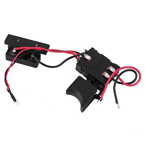 Interruptor de taladro eléctrico de material resistente y duradero ajustable Interruptor de disparo de taladro de rendimiento superior Interruptor de taladro de 16 A 24 V con luz pequeña