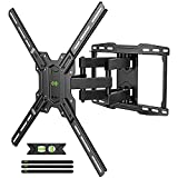 Full Motion TV Wall Mount Swivel and Tilt for Most 42-75 inch Flat Screen TVs/Curved TVs, TV Mount Bracket Dual Articulating Arms, Max VESA 600x400mm, 100lbs. Up to 16