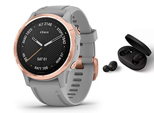 Garmin Fenix 6S Pro Saphir/Sapphire - GPS Multisportuhr - grau/Rosegold inkl. Bluetooth Headset