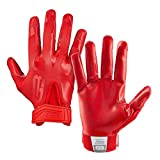 Grip Boost Stealth Solid Color Football Gloves Pro Elite - Adult Sizes (Red, Adult Medium)