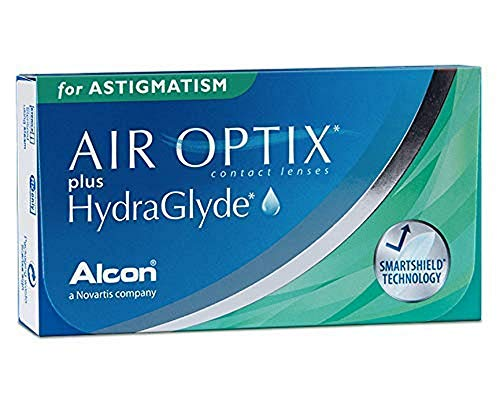 Air Optix plus HydraGlyde for Astigmatism Monatslinsen weich, 6 Stück / BC 8.7 mm / DIA 14.5 mm / CYL -1.25 / ACHSE 100 / -4.0 Dioptrien