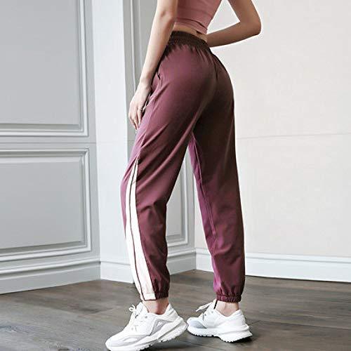 SHENSHI Damen Jogginghose Sporthose,Sport Fitness Hose Quick Dry Loose Streetwear Weinrot, Wie Abgebildet, Groß