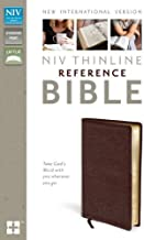 NIV, Thinline Reference Bible, Bonded Leather, Burgundy, Red Letter Edition