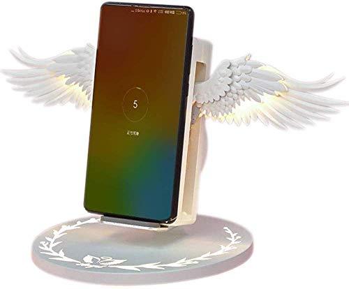 Angel Wings 10 W Fast Wireless Ladestation, Ladestation mit automatischer Erkennung Kompatibel mit IOS- und Android-Smartphones