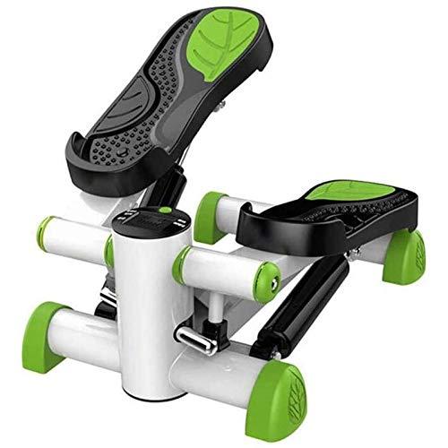 Rindasr Stepping machine voor thuis, stiler gewichtsverlies machine, in-situ-stepper, fitness trainingsapparaat, kachelpijp multifunctionele mini met led-display en weerstandsband stepper