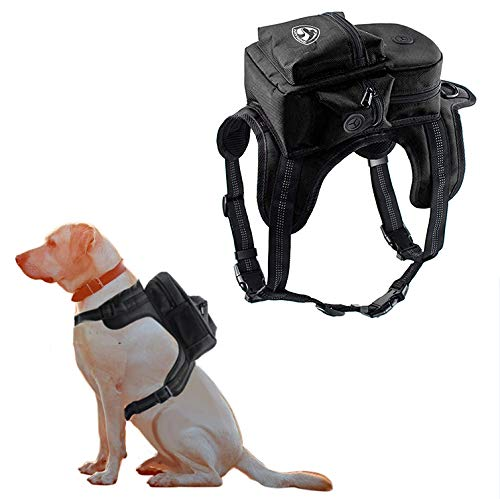 Kaynine Dog Backpack for Travel Camping Hiking. (Medium, Black)