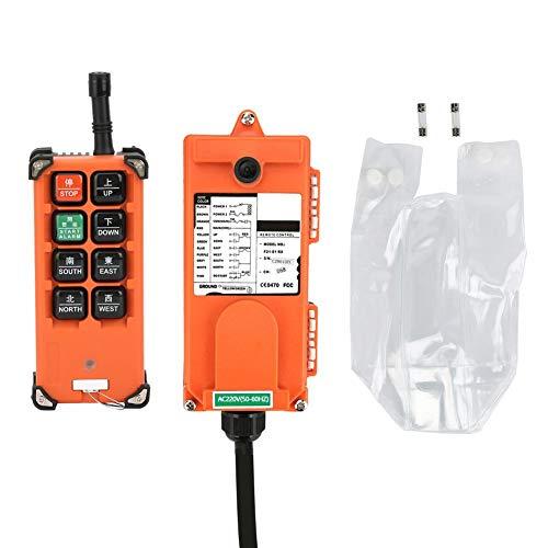 Emetteur et Récepteur de Télécommande sans Fil Radio Industrielle 220V F21-E1B pour Vitesse de Sngle à un Seul Crochet, Palan à deux Mécanismes et Contrôle Industriel Inférieur à 6 contacts