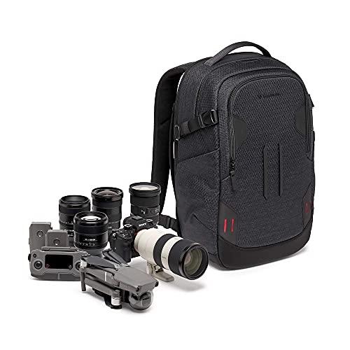 Manfrotto PRO Light Backloader S, Zaino per Fotocamere Mirrorless, Accesso Superiore e Posteriore, Doppio Attacco per Treppiede, Divisori Intercambiabili, Nero