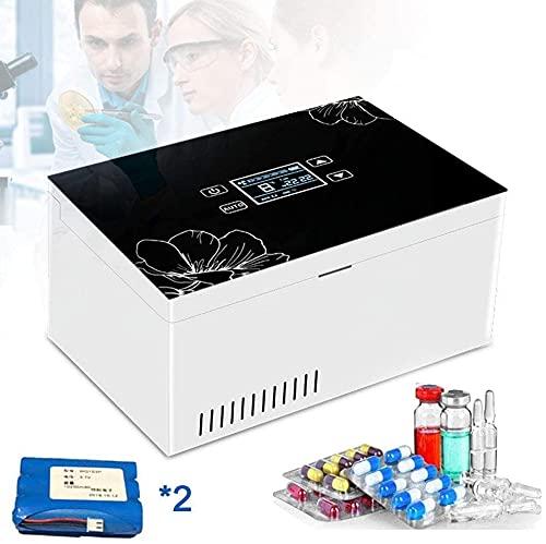 MISTLI Insulin Coolbox, Refrigerador De Medicamentos, Caja De Refrigeración Eléctrica, 2-8 ℃ Pantalla LCD Contenedor De Enfriamiento Pequeño Refrigerador Sostenga Diabetes Medicamentos Aislados