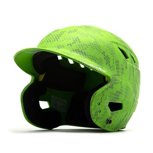 Boombah DEFCON Swarm Camo Batting Helmet Lime Green - Size Junior 6 1 4  - 7