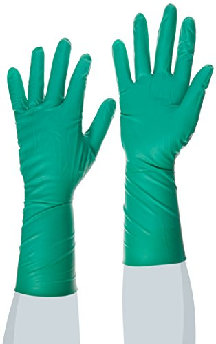 Ansell 73701075 Dermashield 73-701 Guanto in Neoprene, Protezione Contro le Sostanze Chimiche e Liquide, Verde, Taglia 7.5 (Cartone di 200 Paia)