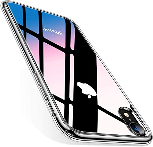TORRAS Diamonds Clear Compatible for iPhone XR Cases, [Non-Yellowing] [4k Super Clear] Slim Thin Shockproof Hard Plastic Back & Soft Silicone Bumper iPhone XR Case, Transparent