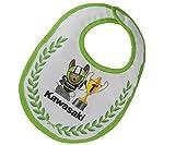 Kawasaki Babero. Champion Peto Cuddle 1. Espacio. Ninja Baby nº 1. Blanco Verde...