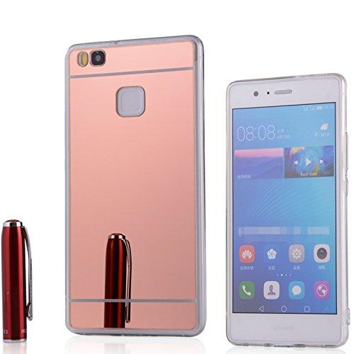 Funda Espejo Silicona Gel TPU para Huawei P9 Lite Color Rosado
